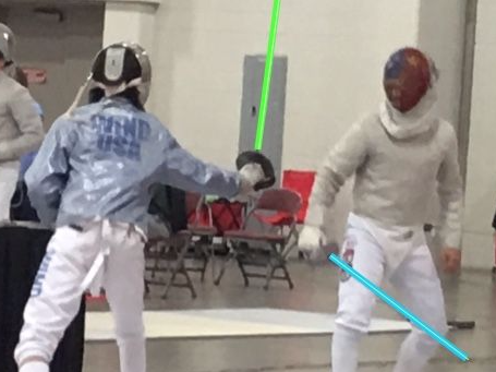 Competitive fencing classes