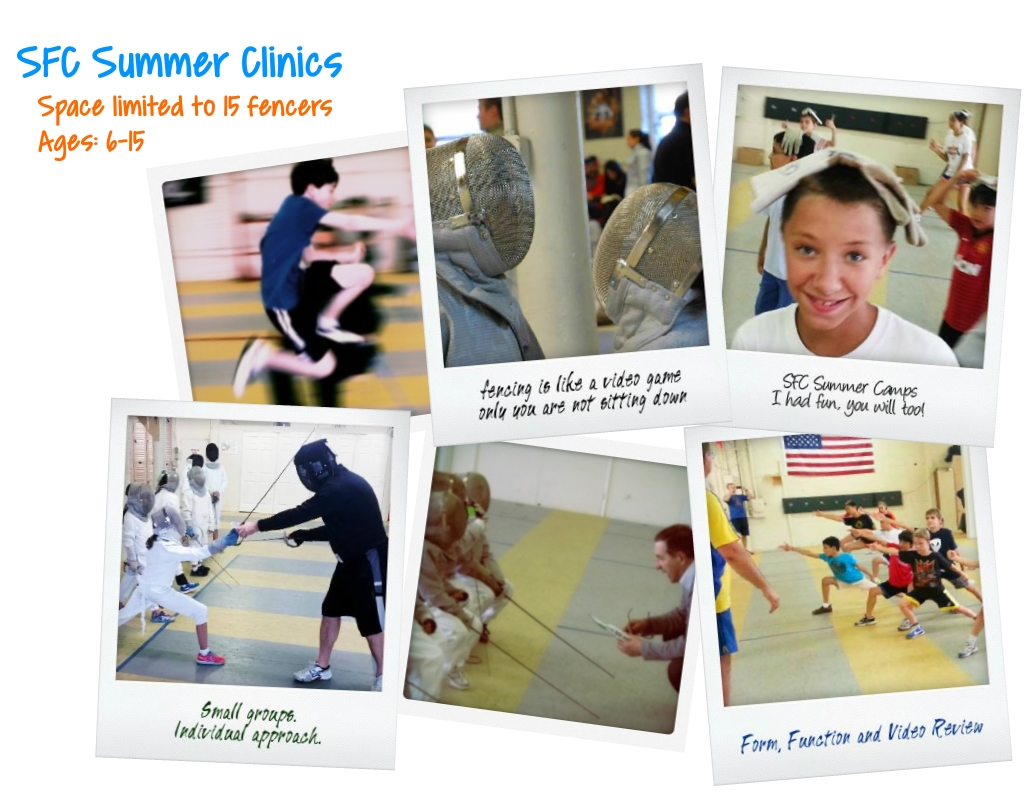 SFC Summer Clinics - Space limited to 15 fencers, ages 6-15